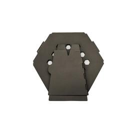 Vargo Hexagon Holzofen Edelstahl